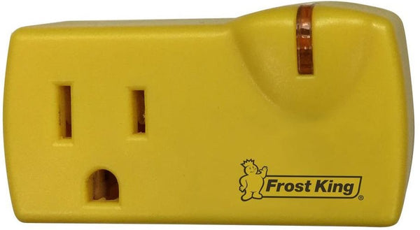 Frost King 099000 Self-Regulating Heat Cable Thermostat with 1-Outlet & Light