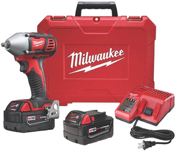 Milwaukee 2658-22 M18 Cordless Impact Wrench Kit, 18 V