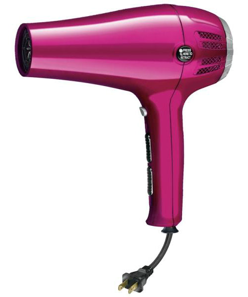 Conair 209R Ionic Ceramic Cord Keeper Hair Dryer, Pink, 1875 Watts