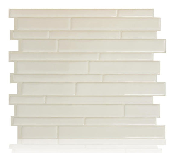Smart Tiles SM1094-1  Peel & Stick Decorative Wall Tile, Milano Avorio
