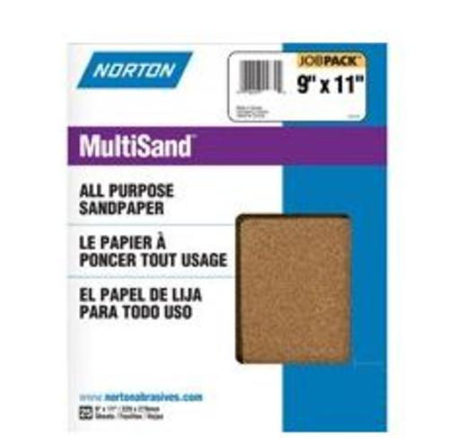 "Norton 07660768108 Aluminum Oxide Sandpaper, Job Pack, 9"" x 11"""