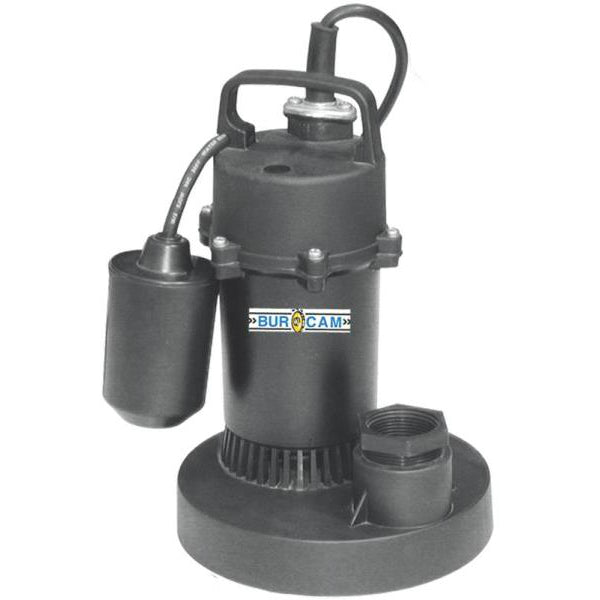 Bur-Cam 300700P Submersible Sump Pump, 1/2 Hp