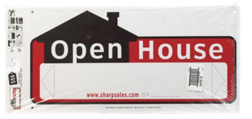 "Hy-Ko SSP-203 Open House Directional Sign  10"" X 22"""