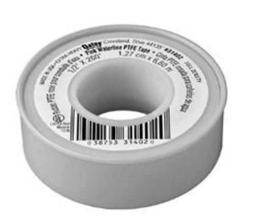 "Oatey 31402D PTFE Water Line Thread Seal Tape, 1/2""x260"", Pink"