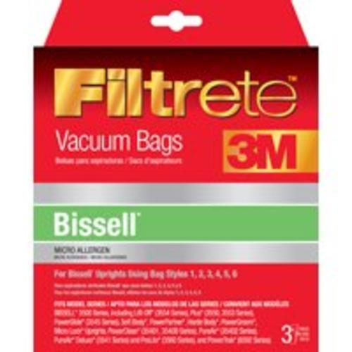 Filtrete 66707A-6 Bissell 3500 Series Upright Vacuum Cleaner Bag, 3-Count