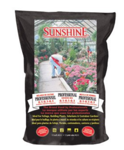 Sunshine 108 2.50 CFL P Professional Growing Mix, 2.5 cu.ft.