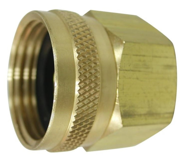 "Landscapers Select PMB-055-3LC Brass Swivel Hose Adapter, 3/4"" FHT x 3/4"" FIP"