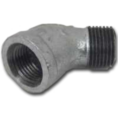 "Worldwide Sourcing PPG121-6 1/8"" Galvanized Malleable Street Elbow- 45 Degree"