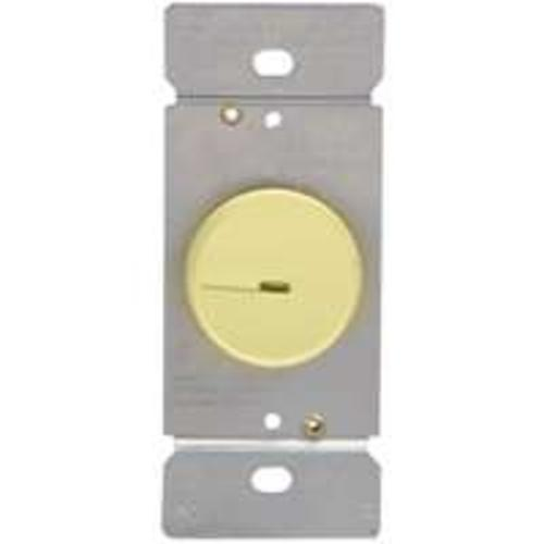 Cooper Wiring RI306PL-V-K Lighted Incandescent/Halogen Rotary Dimmer with Preset, Ivory