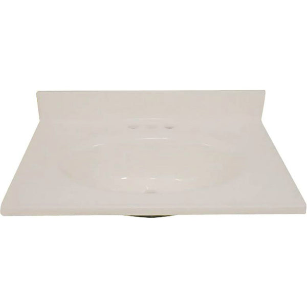 "Foremost BS-2231 Cultured Marble Top, Solid Bone, 22"" x 31"""