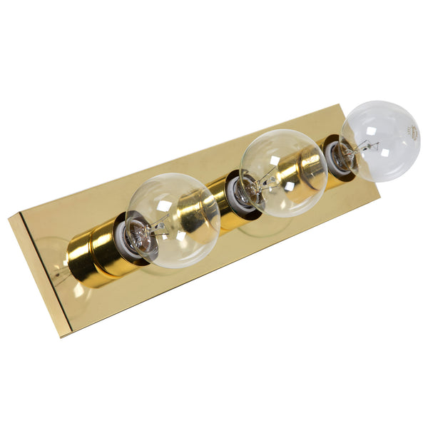 Boston Harbor V5BB03-3L Vanity Bathroom Light Fixtures, Polished Brass