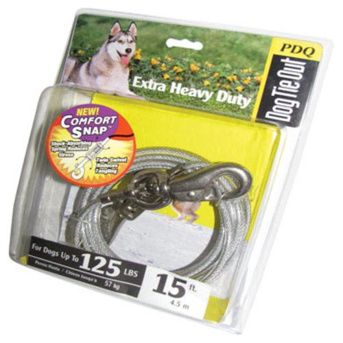 PDQ Q5715 SPG 99 Dog Tie Out With Spring, 15'