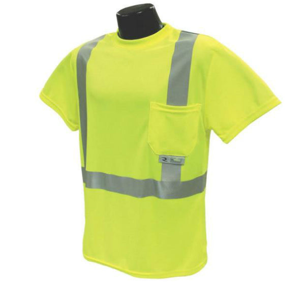 Radians ST11-2PGS-2X Class 2 T-shirt Moisture Wicking, Green, 2X-Large
