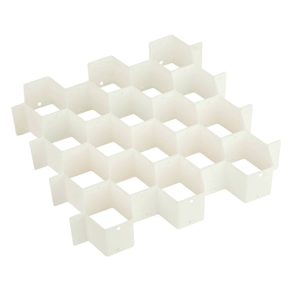 Honey Can Do SFT-01625 32 Compartment Drawer Organizer, White, Plastic