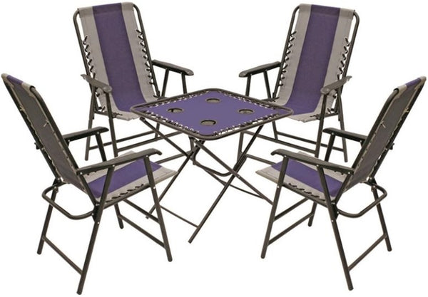 Seasonal Trends XF4301OX05FR1BKOX Table & Chair Set, 5 Piece