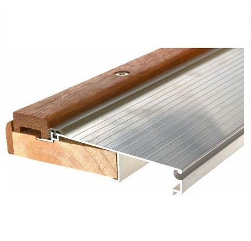 "Frost King TAOC36A Adjustable Aluminum & Oak Sill Threshold, 5-5/8"" x 3', Mill"