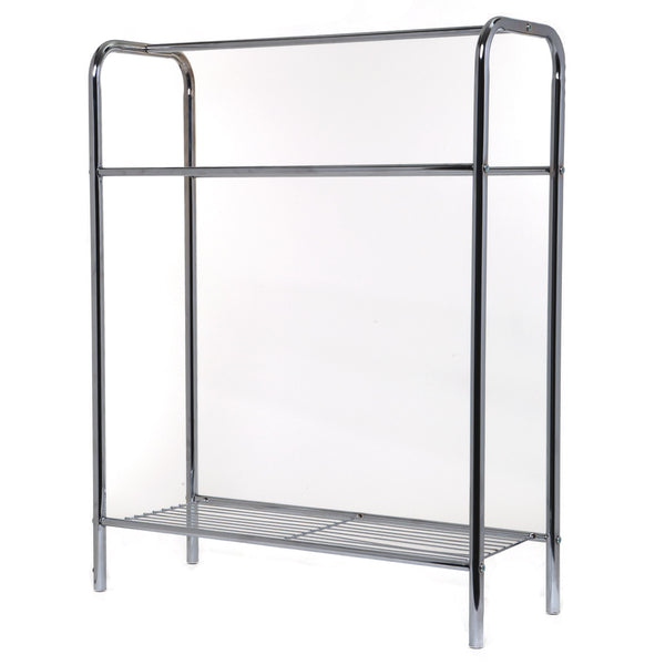 Homebasix BC15C-CH-3L Towel Stand With Shelf, Chrome