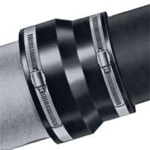 "Fernco 1003-44 Ductile Iron Coupling, 4"" X 4"""