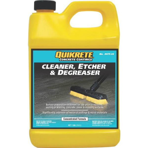 Quikrete 8675-34 Concrete Cleaner, Etcher & Degreaser, Gallon
