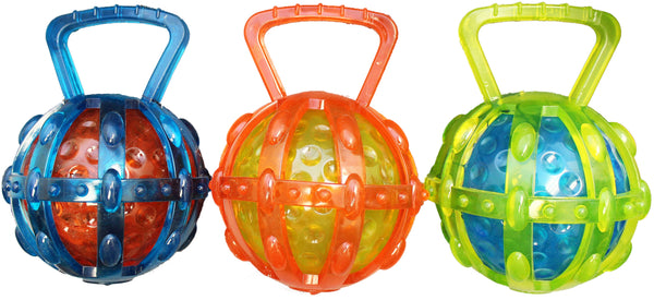 Chomper WB15519 TPR Ball Tug Dog Toy, Assorted Colors
