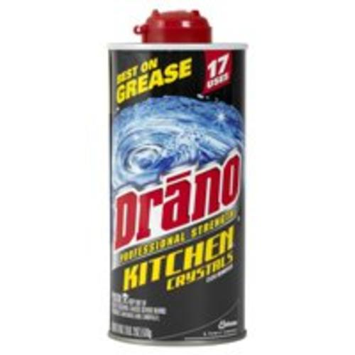 Drano 20113 Crystal Drano, Kitchen Crystals Clog, 18 Oz