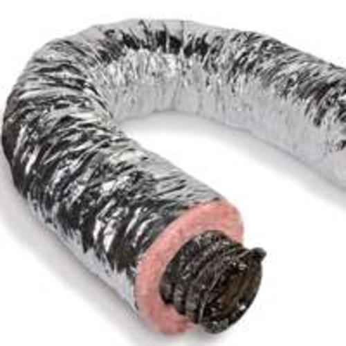 "LL Building F6IFD8X300 Insulated Flexible Air Duct R6 Silver Jacket, 8"" x 25'"