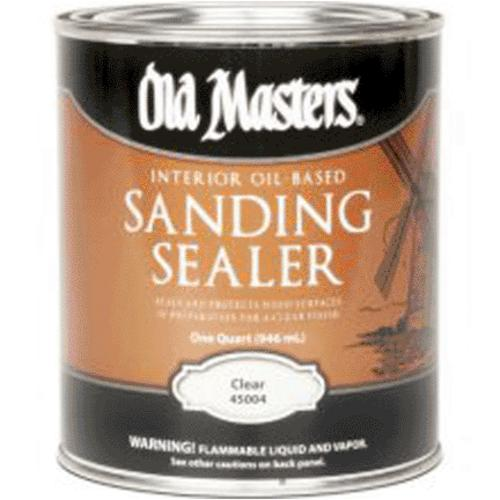 Old Masters 45004 Qt Sanding Sealer, Clear