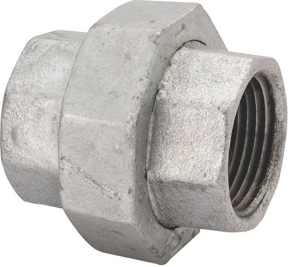 "Worldwide Sourcing 1309 3/8"" Galvanized Malleable Ground Joint 150# Union"
