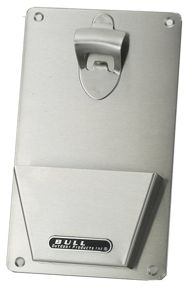 Bull 66006 Bottle Opener With Catch, 16 ga 304 Stainless Steel