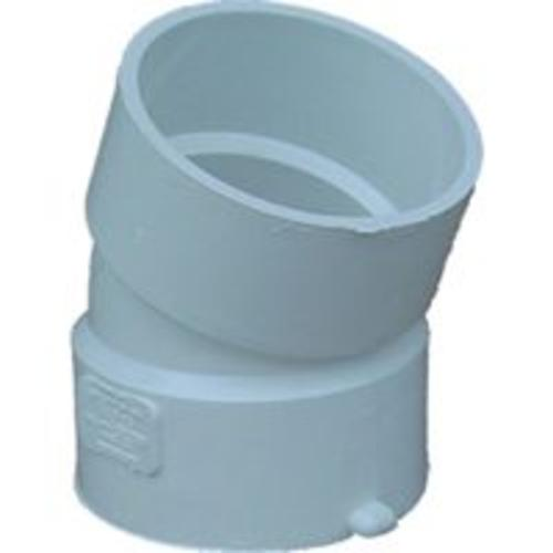 Genova 40860 Pvc Sewer & Drain 22-1/2 Degree Elbow 6""