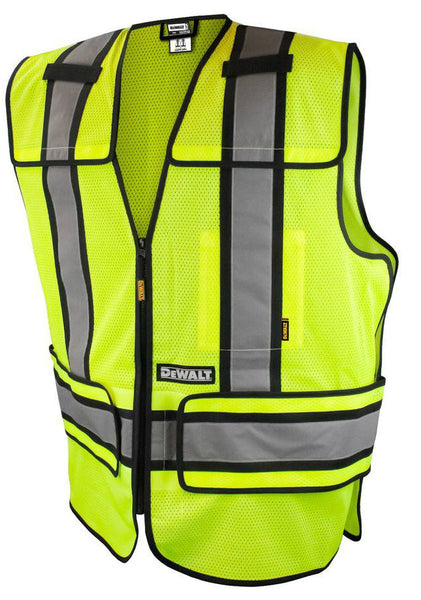 DeWalt DSV421-S/L Small/Large High Visibility Adjustable Breakaway Vest, Green