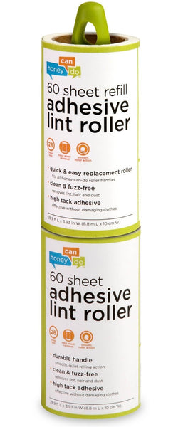 Honey-Can-Do LNT-03769 Lint Roller with Refill, 60-Sheet, 2/Pack