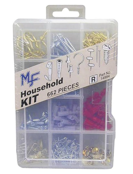 Midwest Products 14994 Household Fastener Kit, Assortment, 662 Piece