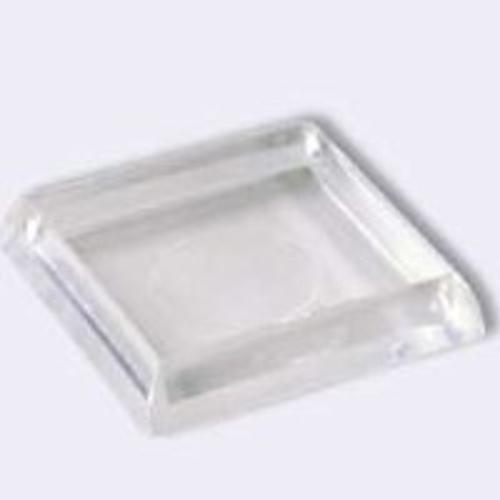 "Shepherd Hardware 9089 Square Plastic Furniture Cup 1-7/8"", Clear"