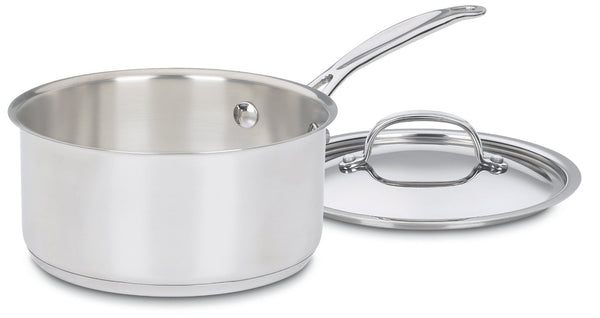 Cuisinart® 719-18 Chef's Classic™ Induction-Ready Saucepan with Cover, 2 Qt
