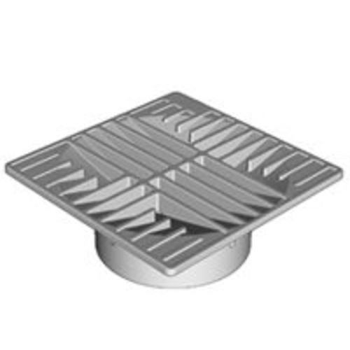 "Hancor 0642SDB Square Grate Drain Fitting 6"",  Black"