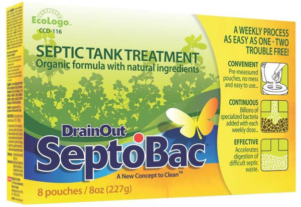 Drain Out SeptoBac C-SB06N Septic Tank Treatment, 8 Oz