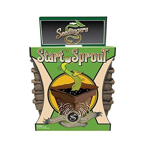 Seedlingers SSP-S-412 Start & Sprout Pot, 4 Square