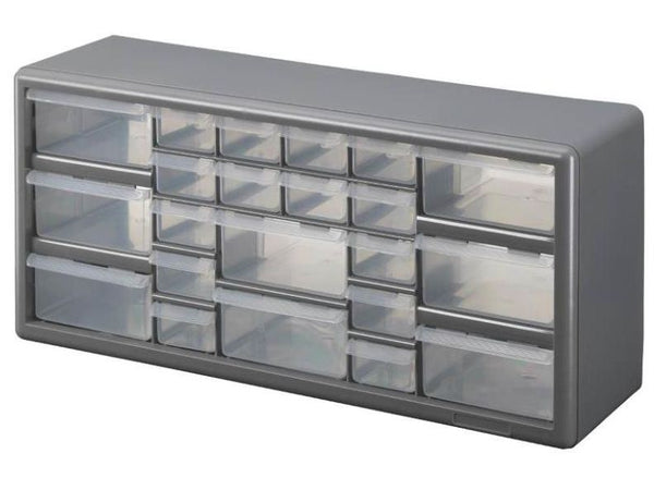 Stack-On DS-22 Multi-Drawer Storage Cabinet, Gray, 22-Drawer