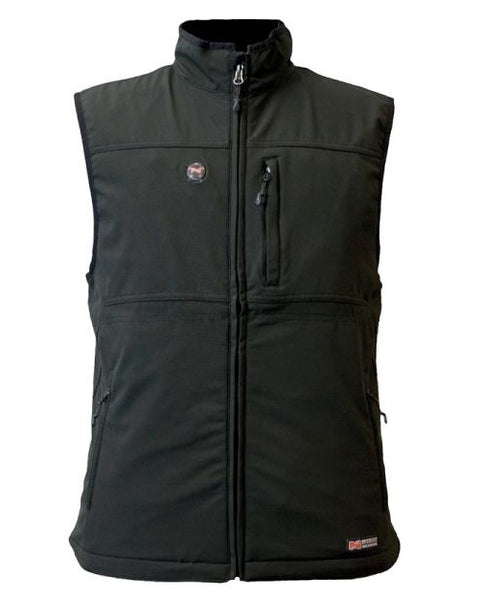 Mobile Warming MWJ13M01-MD-BLK Men Vinson Heated Vest, Medium, Black