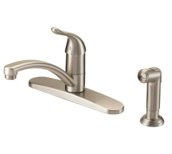 "Mintcraft 67534-1004 Kitchen Faucet, 1 Handle, 8"",  Brushed Nickel"