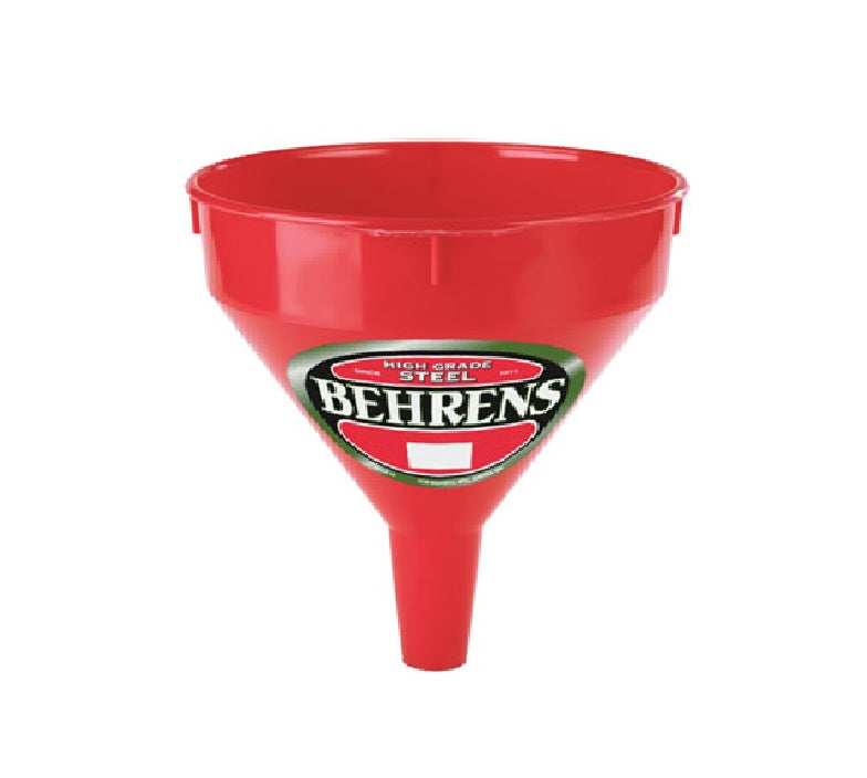 Behrens 112 Red Plastic Funnel, 1 Pint