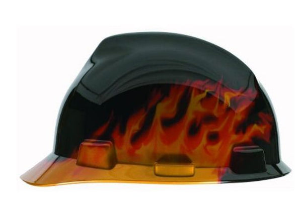 MSA Safety 10124206 Black Fire V Gard Hard Hat