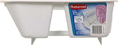 "Rubbermaid 6049-AR WHT Twin Sink Dish Drainer, 12-1/2"" 14"" x 4-1/2"", White"