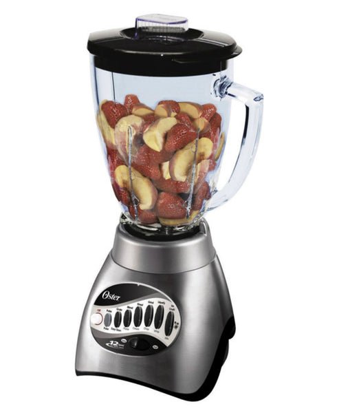 Oster 6811-C00 Classic Blender with 6-Cup Glass Jar, 12-Speed, Brushed Nickel