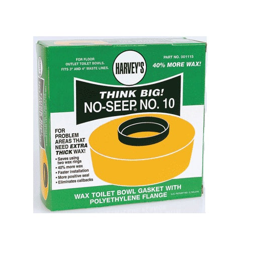 William Harvey 001115-12 Extra Thick Wax Toilet Flange