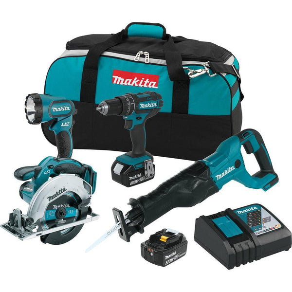 Makita XT442 Lithium-Ion Cordless Combo Kit, 18-Volt