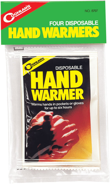 "Coghlan 8797 Disposable Hand Warmers, 3"" x 4"", 6-Hours, 4-Count"