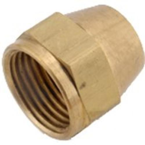 Anderson Metal 754014-12 Brass Flare Fittings Short Nut, 3/4""