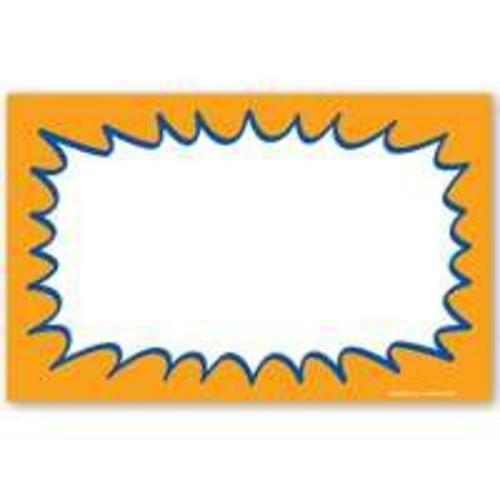 "Centurion SCA401 Starburst Price Card, 7""x11"", Orange"